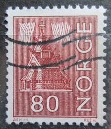Poštovní známka Norsko 1972 Kostel a polární záøe Mi# 633
