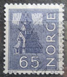 Poštovní známka Norsko 1963 Kostel a polární záøe Mi# 505
