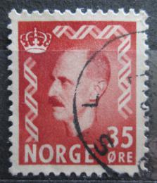 Poštovní známka Norsko 1951 Král Haakon VII. Mi# 362