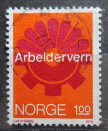 Poštovní známka Norsko 1974 Pracovní prostøedí Mi# 686