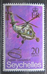 Poštovní známka Seychely 1971 Helikoptéra Mi# 288