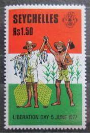 Poštovní známka Seychely 1977 Osvobození, 1. výroèí Mi# 416