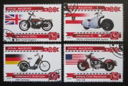 Poštovní známky Maledivy 2015 Motocykly Mi# 5495-98 Kat 10€
