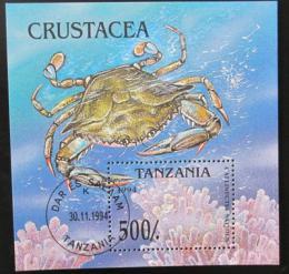 Poštovní známka Tanzánie 1994 Krab Mi# Block 269