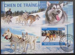 Poštovní známka Togo 2010 Tažní psi Husky Mi# Block 553 Kat 12€ - zvětšit obrázek