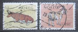 Poštovní známky Norsko 1981 Koza a kráva Mi# 834-35