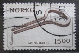 Poštovní známka Norsko 1982 Hudební nástroj Mi# 864