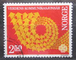 Poštovní známka Norsko 1983 Svìtový rok komunikace Mi# 887