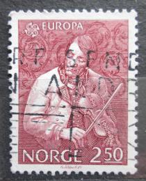 Poštovní známka Norsko 1985 Evropa CEPT, Torgeir Augundsson, houslista Mi# 926