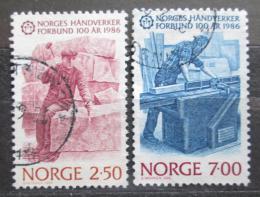 Poštovní známky Norsko 1986 Svaz øemeslníkù, 100. výroèí Mi# 944-45
