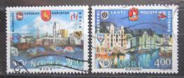 Poštovní známky Norsko 1986 Partnerská mìsta ve Skandinávii Mi# 948-49