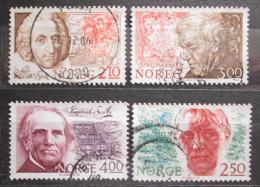 Poštovní známky Norsko 1986 Osobnosti Mi# 954-57