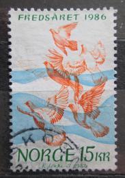 Poštovní známka Norsko 1986 Mezinárodní rok míru Mi# 960
