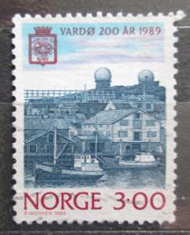 Poštovní známka Norsko 1989 Pøístav Vardo Mi# 1015