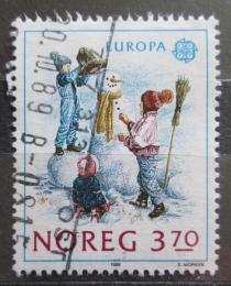 Poštovní známka Norsko 1989 Evropa CEPT, stavba snìhuláka Mi# 1019