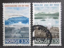 Poštovní známky Norsko 1992 Norská mìsta Mi# 1098-99