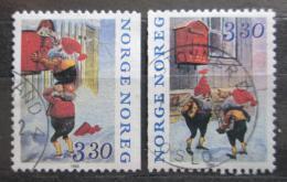Poštovní známky Norsko 1992 Vánoce Mi# 1112-13