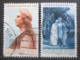 Poštovní známky Norsko 1995 Kirsten Flagstad, operní pìvkynì Mi# 1183-84