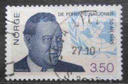 Poštovní známka Norsko 1995 Trygve Lie, politik Mi# 1187