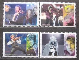 Poštovní známky Norsko 2010 Populární hudba Mi# 1720-23 Kat 8€