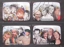 Poštovní známky Norsko 2010 Norská televize, 50. výroèí Mi# 1726-29 Kat 8.80€