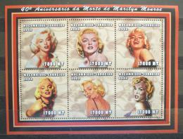 Poštovní známky Mosambik 2002 Marilyn Monroe Mi# 2427-32 Kat 13€