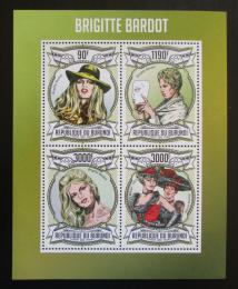 Poštovní známky Burundi 2013 Brigitte Bardot Mi# 3008-11 Kat 8.90€