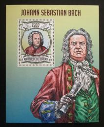 Poštovní známka Burundi 2013 Johann Sebastian Bach Mi# Block 322 Kat 9€