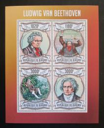 Poštovní známky Burundi 2013 Ludwig van Beethoven Mi# 3018-21 Kat 9.90€