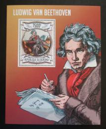 Poštovní známka Burundi 2013 Ludwig van Beethoven Mi# Block 328 Kat 9€