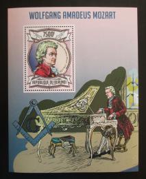 Poštovní známka Burundi 2013 Wolfgang Amadeus Mozart Mi# Block 327 Kat 9€