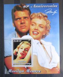 Poštovní známka Kongo Dem. 2002 Marilyn Monroe Mi# N/N