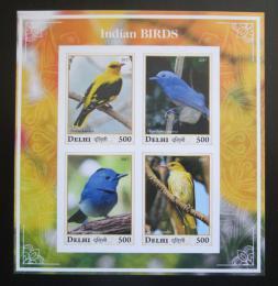 Poštovní známky Dillí, Indie 2017 Indiètí ptáci neperf. Mi# N/N