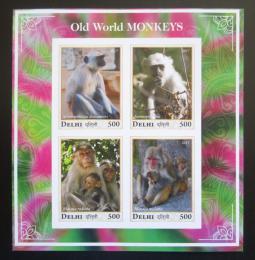 Poštovní známky Dillí, Indie 2017 Opice neperf. Mi# N/N