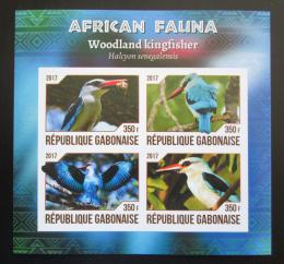 Poštovní známky Gabon 2017 Ledòáèek senegalský neperf. Mi# N/N