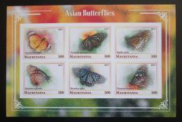 Poštovní známky Mauritánie 2017 Asijští motýli neperf. Mi# N/N