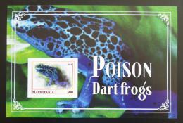 Poštovní známka Mauritánie 2018 Jedovaté žáby neperf. Mi# N/N