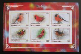 Poštovní známky Mauritánie 2017 Ptáci neperf. Mi# N/N