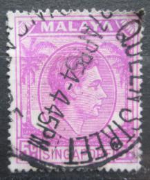 Poštovní známka Singapur 1952 Král Jiøí VI. Mi# 5 C