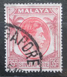 Poštovní známka Singapur 1952 Král Jiøí VI. Mi# 15