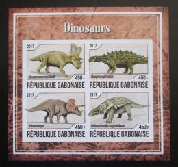 Poštovní známky Gabon 2017 Dinosauøi neperf. Mi# N/N