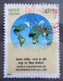 Poštovní známka Indie 1997 Mezinárodní konference lepšího života Mi# 1590