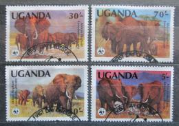 Poštovní známky Uganda 1983 Slon africký, WWF 004 Mi# 361-64 15€
