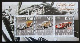 Poštovní známky Benin 2015 Klasické automobily Mi# N/N