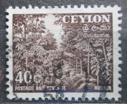 Poštovní známka Cejlon 1954 Kauèukovníky Mi# 271