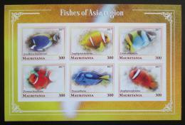Poštovní známky Mauritánie 2017 Asijské ryby neperf. Mi# N/N