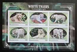 Poštovní známky Mauritánie 2018 Tygr indický neperf. Mi# N/N