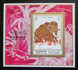 Poštovní známka Manáma 1971 Mamut srsnatý Mi# Block 135 A