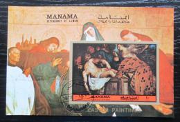 Poštovní známka Manáma 1972 Velikonoce, náboženské umìní Mi# Block 197 A