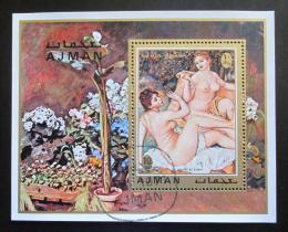 Poštovní známka Adžmán 1971 Umìní, Renoir Mi# Block 278 A